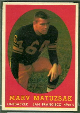 Marv Matuszak 1958 Topps football card