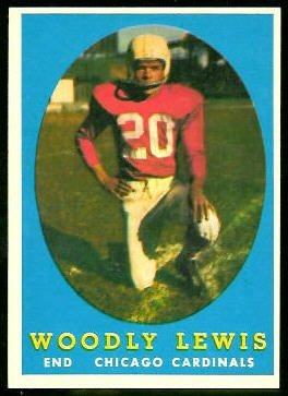 1958 Topps Woodley Lewis error football card