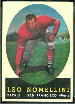 Leo Nomellini 1958 Topps football card