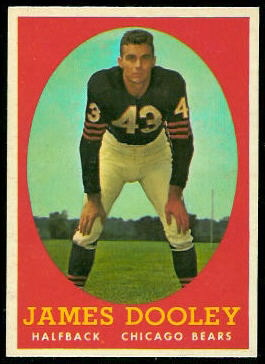Jim Dooley 1958 Topps football card