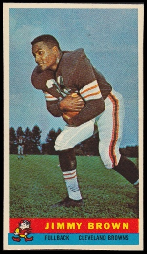 Jim Brown 1959 Bazooka football card