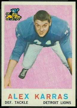 Alex Karras 1959 Topps football card