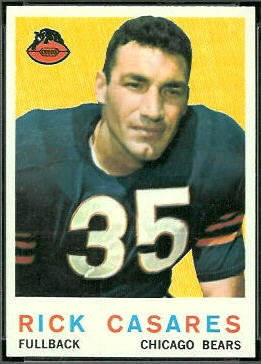 Rick Casares 1959 Topps football card
