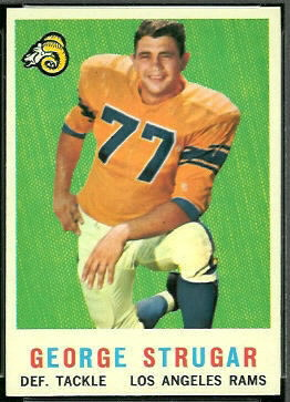 George Strugar 1959 Topps football card