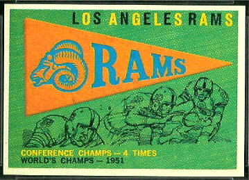 Rams Pennant 1959 Topps football card