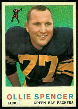 Ollie Spencer 1959 Topps football card