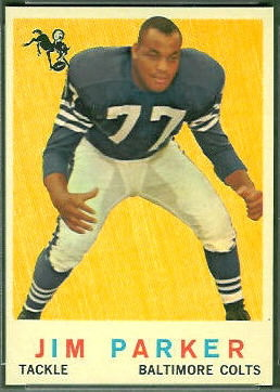 Jim Parker 1959 Topps football card