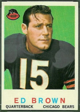 Ed Brown 1959 Topps football card
