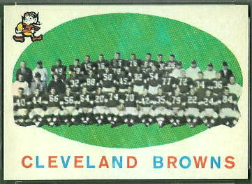 Cleveland Browns Team 1959 Topps football card