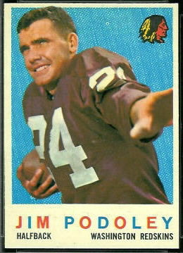 1959 Topps Jim Podoley football card