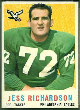 Jesse Richardson 1959 Topps football card