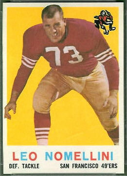 Leo Nomellini 1959 Topps football card