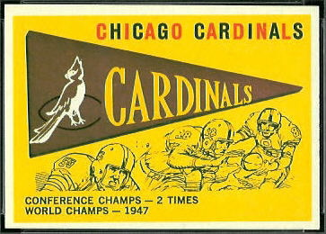 Cardinals Pennant 1959 Topps football card