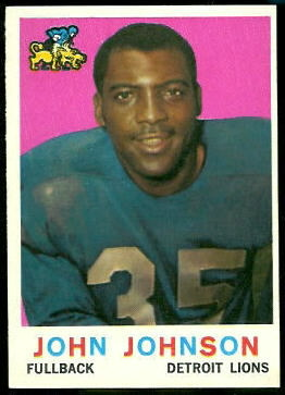 John Henry Johnson 1959 Topps football card