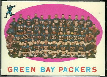 Green Bay Packers Team 1959 Topps football card