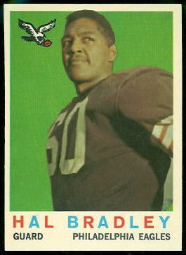Hal Bradley 1959 Topps football card