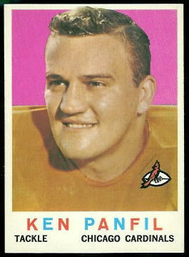 Ken Panfil 1959 Topps football card