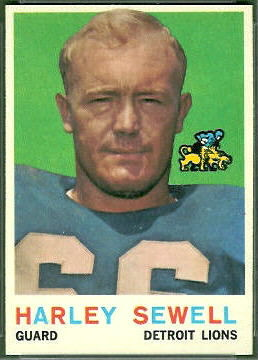Harley Sewell 1959 Topps football card