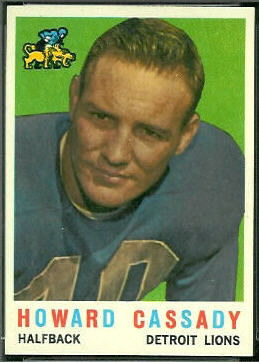 Howard Cassady 1959 Topps football card