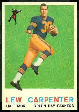 1959 Topps Lew Carpenter rookie football card