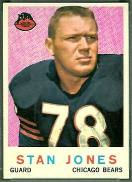 Stan Jones 1959 Topps football card