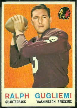 Ralph Guglielmi 1959 Topps football card