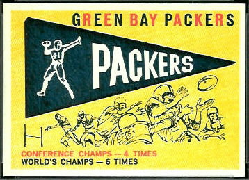 Packers Pennant 1959 Topps football card