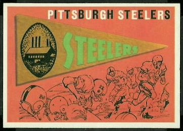 Steelers Pennant 1959 Topps football card