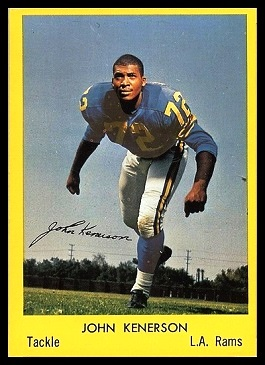 John Kenerson 1960 Bell Brand Rams football card