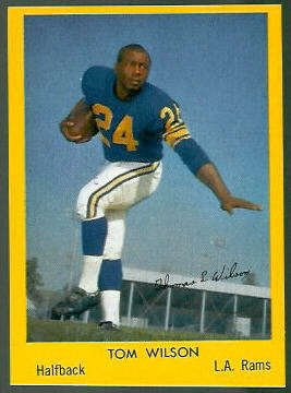 Tom Wilson 1960 Bell Brand Rams football card