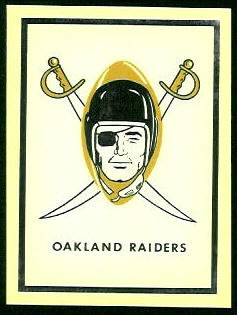 Raiders Logo 1960 Fleer AFL Team Decals football card