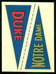 1960 Fleer College Pennant Decals Duke - Notre Dame