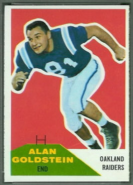Alan Goldstein 1960 Fleer football card