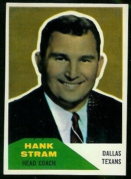 Hank Stram 1960 Fleer football card
