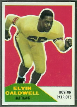 Elvin Caldwell 1960 Fleer football card