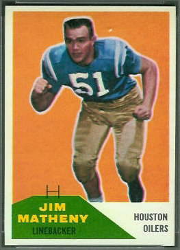 Jim Matheny 1960 Fleer football card