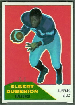 Elbert Dubenion 1960 Fleer football card