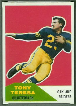 Tony Teresa 1960 Fleer football card