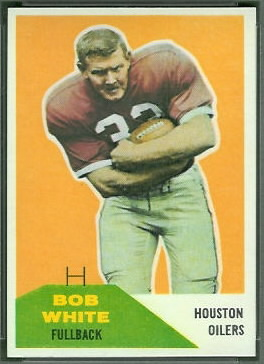 Bob White 1960 Fleer football card