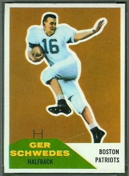 Gerhard Schwedes 1960 Fleer football card