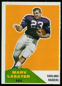Marv Lasater 1960 Fleer football card
