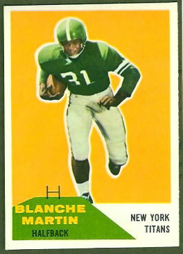 Blanche Martin 1960 Fleer football card