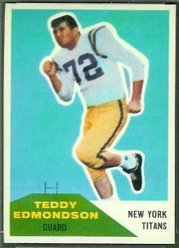 Teddy Edmondson 1960 Fleer football card