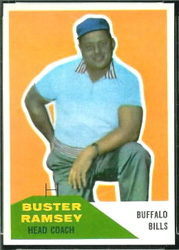 Buster Ramsey 1960 Fleer football card