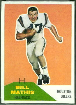 Bill Mathis 1960 Fleer football card