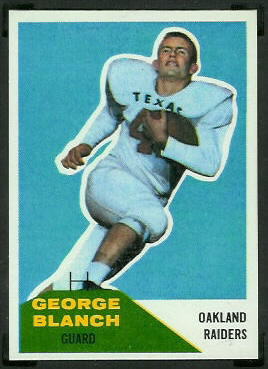 George Blanch 1960 Fleer football card