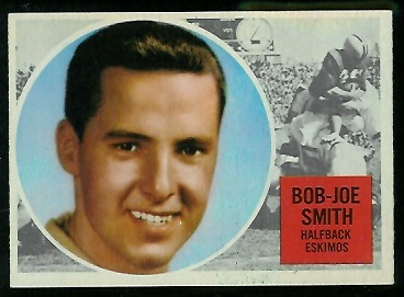 Joe Bob Smith 1960 Topps CFL football card