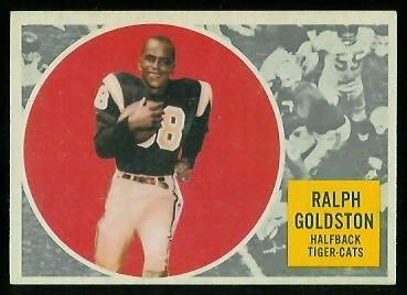 Ralph Goldston 1960 Topps CFL football card