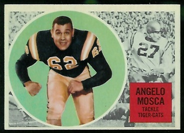 Angelo Mosca 1960 Topps CFL football card