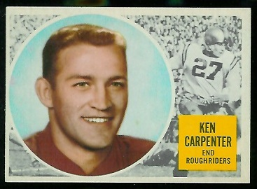 Ken Carpenter 1960 Topps CFL football card